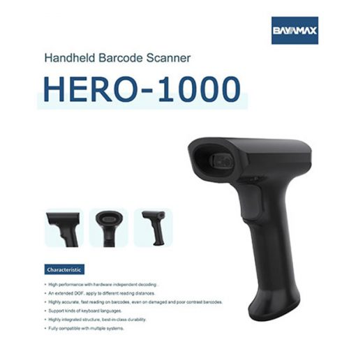 بارکد خوان دو بعدی بایامکس Hero-1000